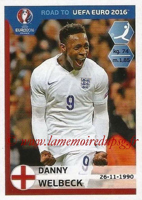 Panini Road to Euro 2016 Stickers - N° 078 - Danny WELBECK (Angleterre)