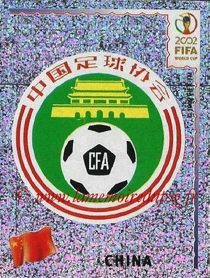 2002 - Panini FIFA World Cup Stickers - N° 206 - Logo Chine