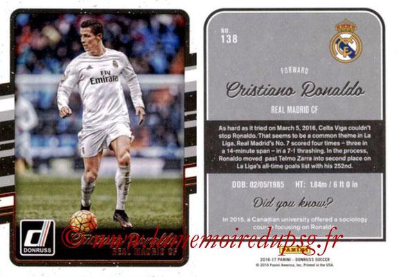 2016 - Panini Donruss Cards - N° 138 - Cristiano RONALDO (Real Madrid CF)