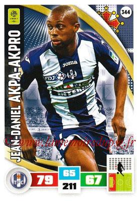 2016-17 - Panini Adrenalyn XL Ligue 1 - N° 344 - Jean-Daniel AKPA-AKPRO (Toulouse)