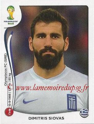 2014 - Panini FIFA World Cup Brazil Stickers - N° 209 - Dimitris SIOVAS (Grèce)
