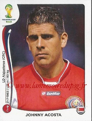 2014 - Panini FIFA World Cup Brazil Stickers - N° 285 - Johnny ACOSTA (Costa Rica)