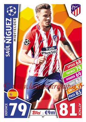 2017-18 - Topps UEFA Champions League Match Attax - N° 047 - Saul NIGUEZ (Club Atletico de Madrid)