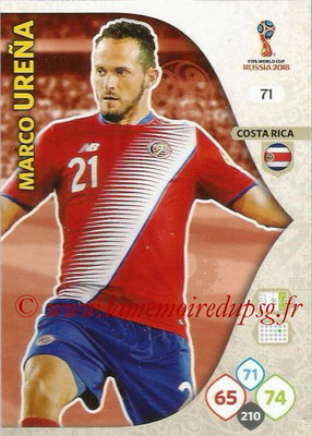 2018 - Panini FIFA World Cup Russia Adrenalyn XL - N° 071 - Marco URENA (Costa Rica)