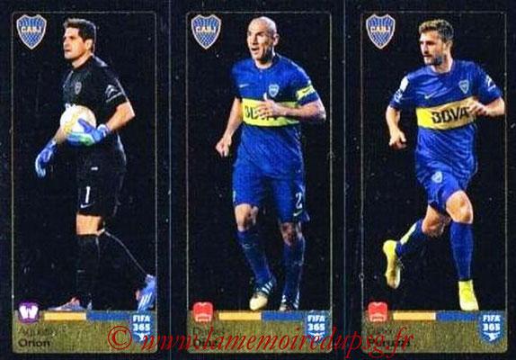 2015-16 - Panini FIFA 365 Stickers - N° 083-084-085 - Agustin ORION + Daniel DIAZ + Gino PERUZZI (CA Boca Juniors)
