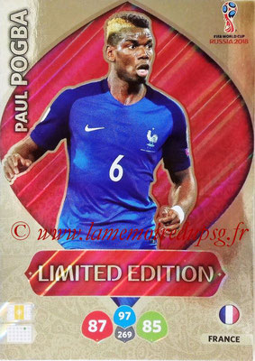 2018 - Panini FIFA World Cup Russia Adrenalyn XL - N° LE-PP - Paul POGBA (France) (Limited Edition)