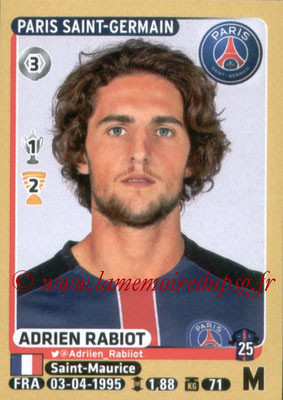 2015-16 - Panini Ligue 1 Stickers - N° 352 - Adrien RABIOT (Paris Saint-Germain)