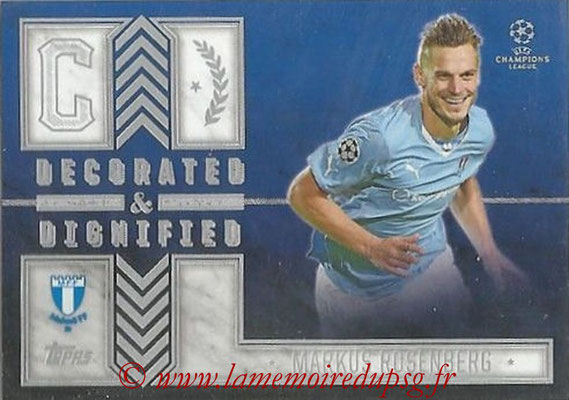 2015-16 - Topps UEFA Champions League Showcase Soccer - N° DD-MR - Markus ROSENBERG (Malmö FF) (Decorated and Dignified)