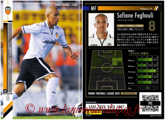 Panini Football League 2013 - PFL01 - N° 073 - Sofiane Feghouli ( Valencia CF )