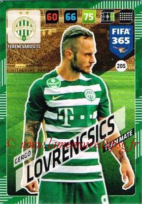 2017-18 - Panini FIFA 365 Cards - N° 205 - Gergo LOVRENCSICS (Ferencvaros TC)