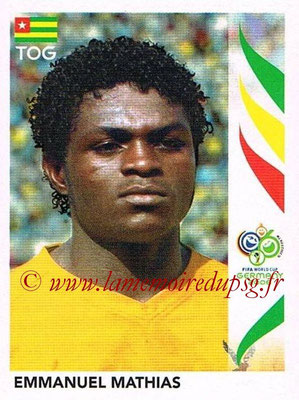 2006 - Panini FIFA World Cup Germany Stickers - N° 517 - Emmanuel MATHIAS (Togo)