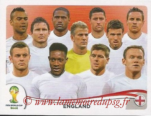 2014 - Panini FIFA World Cup Brazil Stickers - N° 299 - Equipe Angleterre