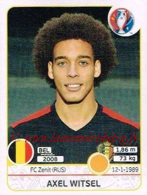 Panini Euro 2016 Stickers - N° 475 - Axel WITSEL (Belgique)