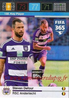 2015-16 - Panini Adrenalyn XL FIFA 365 - N° 158 - Steven DEFOUR (RSC Anderlecht) (Key Player)