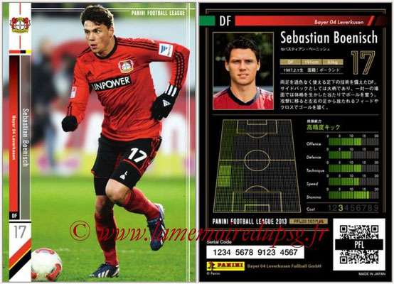 Panini Football League 2013 - PFL03 - N° 107 - Sebastian Boenisch (Bayer Leverkusen)