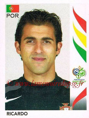 2006 - Panini FIFA World Cup Germany Stickers - N° 284 - RICARDO (Portugal)
