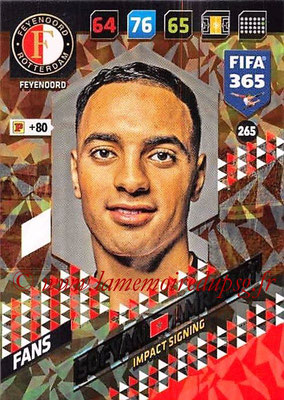 2017-18 - Panini FIFA 365 Cards - N° 265 - Sofyan AMRABAT (Feyenoord ) (Impact Signing)
