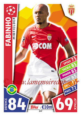 2017-18 - Topps UEFA Champions League Match Attax - N° 247 - FABINHO (AS Monaco)