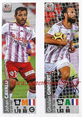 2018-19 - Panini Ligue 1 Stickers - N° 515 - Johan CAVALLI + Ghislain GIMBERT (AC Ajaccio)