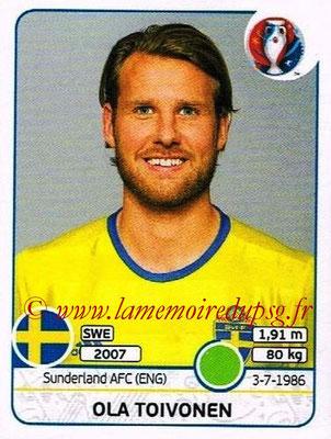 Panini Euro 2016 Stickers - N° 566 - Ola TOIVONEN (Suède)