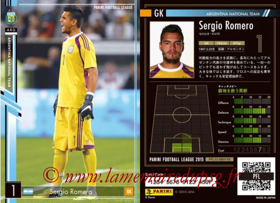Panini Football League 2015 - PFL13 - N° 080 - Sergio ROMERO (Argentine)