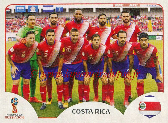 2018 - Panini FIFA World Cup Russia Stickers - N° 393 - Equipe Costa Rica