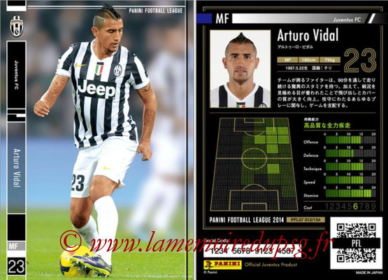 Panini Football League 2014 - PFL07 - N° 012 - Arturo VIDAL (Juventus FC)