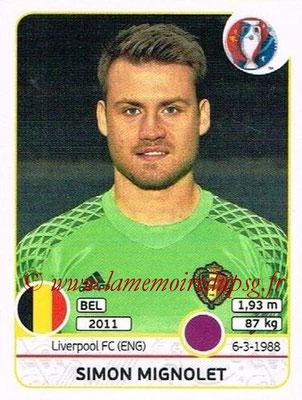 Panini Euro 2016 Stickers - N° 466 - Simon MIGNOLET (Belgique)