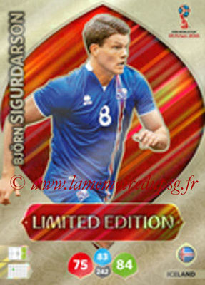 2018 - Panini FIFA World Cup Russia Adrenalyn XL - N° LE-BSI - Bjorn SIGURDARSON (Islande) (Limited Edition)