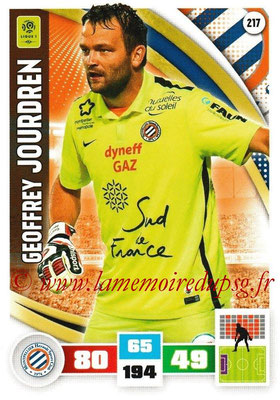 2016-17 - Panini Adrenalyn XL Ligue 1 - N° 217 - Geoffrey JOURDREN (Montpellier)