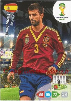 2014 - Panini FIFA World Cup Brazil Adrenalyn XL - N° 146 - Gerard PIQUE (Espagne)