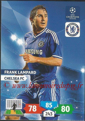 2013-14 - Adrenalyn XL champions League N° 121 - Frank LAMPARD (Chelsea FC)