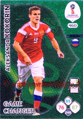 2018 - Panini FIFA World Cup Russia Adrenalyn XL - N° 460 - Aleksandr KOKORIN (Russie) (Game Changer)