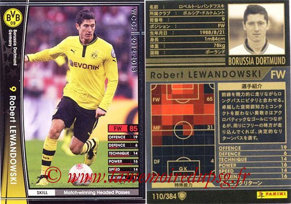 2012-13 - WCCF - N° 110 - Robert LEWANDOWSKI (Borussia Dortmund)