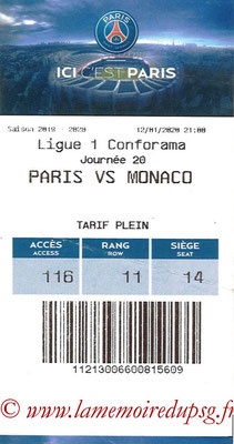 Tickets  PSG-Monaco  2019-20