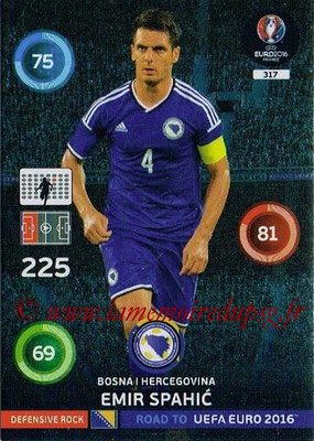 Panini Road to Euro 2016 Cards - N° 317 - Emir SPAHIC (Bosnie Herzégovine) (Defensive Rock)