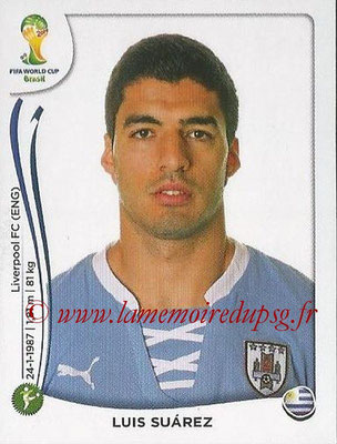 2014 - Panini FIFA World Cup Brazil Stickers - N° 278 - Luis SUAREZ (Uruguay)