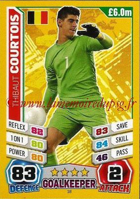 Topps Match Attax England 2014 - N° 018 - Thibaut COURTOIS (Belgique)