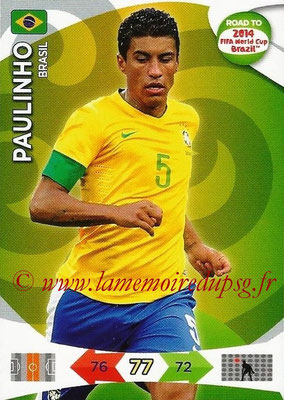 2014 - Panini Road to FIFA World Cup Brazil Adrenalyn XL - N° 021 - PAULINHO (Brésil)
