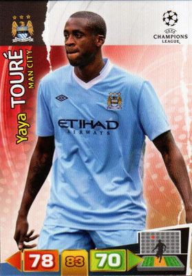 2011-12 - Panini Champions League Cards - N° 135 - Yaya TOURE (Manchester City FC)