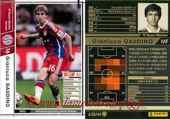 2013-14 - WCCF - N° A25 - Gianluca GAUDINO (FC Bayern Munich)