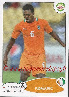 2014 - Panini Road to FIFA World Cup Brazil Stickers - N° 389 - ROMARIC (Côte d'Ivoire)