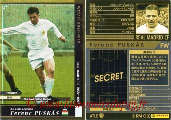 2012-13 - WCCF - N° ATLE5 - Ferenc PUSKAS (Real Madrid CF) (All Time Legend)