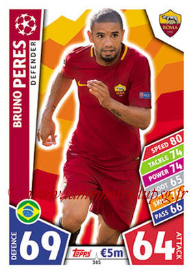 2017-18 - Topps UEFA Champions League Match Attax - N° 385 - Bruno PEREZ (AS Roma)