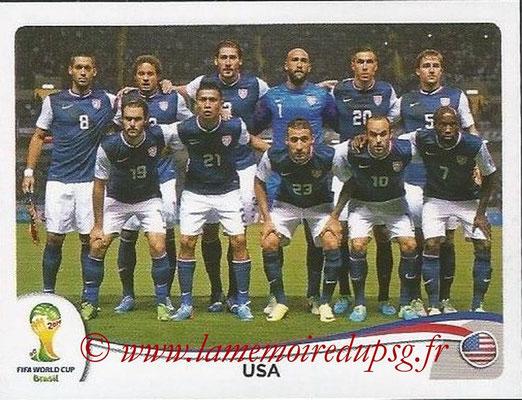2014 - Panini FIFA World Cup Brazil Stickers - N° 546 - Equipe Etats-Unis