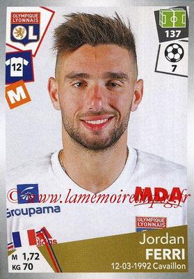 2017-18 - Panini Ligue 1 Stickers - N° 192 - Jordan FERRI (Lyon)