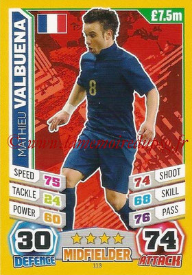 Topps Match Attax England 2014 - N° 113 - Mathieu VALBUENA (France)