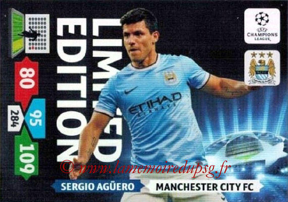 2013-14 - Adrenalyn XL champions League N° LE33 - Sergio AGUERO (Manchester City FC) (Limited Edition)