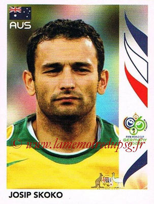 2006 - Panini FIFA World Cup Germany Stickers - N° 427 - Josip SKOKO (Australie)