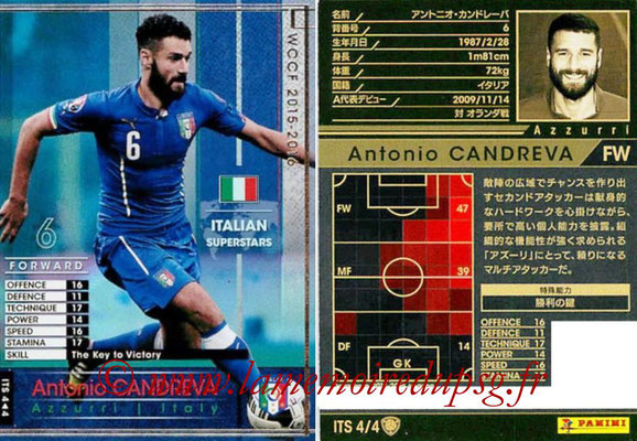 2015-16 - Panini WCCF - N° ITS4 - Antonio CANDREVA (Italie) (Italian Superstars)
